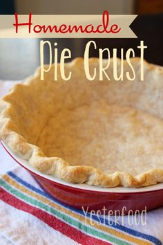 As someone who loves baking, I adore this Homemade Pie Crust recipe shared by @Yesterfood. It's very similar to my own!