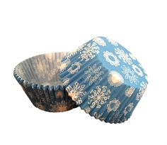 50 PC Blue and White Snowflake / Winter Holiday Cupcake Wrappers