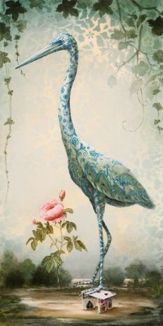 St. Egret of Roses by Kevin Sloan