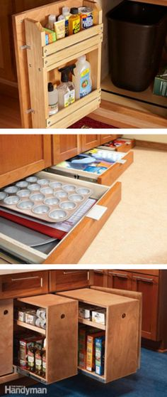 Kitchen Storage: Maximize your kitchen storage capacity with tips for finding unused space. http://www.familyhandyman.com/kitchen/storage