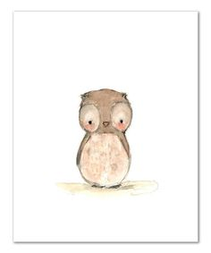 $10.99  Look at this #zulilyfind! Hoot Print by trafalgar's square #zulilyfinds