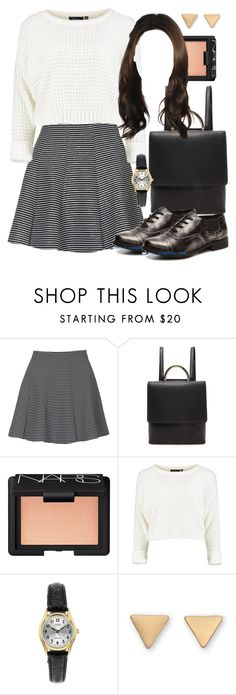 """""""Spencer Hastings inspired outfit with requested shoes"""" by liarsstyle ❤ liked on Polyvore featuring Topshop, Forever 21, NARS Cosmetics, school, college and mid"""