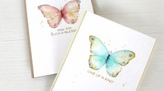 WPlus9 Design Watercolor Stamping: Easy Butterflies; time 9:59; Aug 2014
