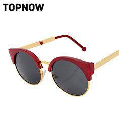 6f46205030 Fashion Vintage Cat Eye Sunglasses Women Designer Retro Super Round Circle  Semi-Rimless Sun Glasses Gafas Oculos de sol Feminino. Sol MujerGafas De  SolModa ...