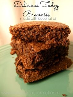 Oh my sweet chocolately goodness!!! These are seriously amazing! Soft, chewy, perfect brownies... and they're just as easy as a boxed mix!