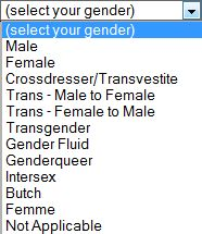 A better way // Even cooler would be alphabetical order.  I bet that would freak a lot of cis folks out!