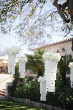 Beach Wedding Ideas: seashell chandelier | Weddingbells.ca