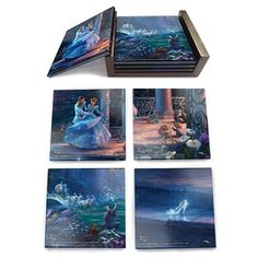 BLOG DOS BRINQUEDOS: Cinderella Dancing Glass Coaster Set