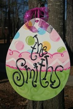 An idea for your classroom's door. It might Read Welcome to our room, 2B, Eggellent Easter! Check out our Easter art and craft board from Clever Classroom.