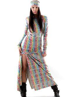 Bohemian Couture Maxikleid Love Retro grau: GUNDI BLIND, Germany