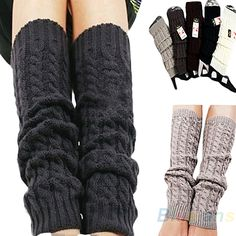 Womens Fashion Winter Knit Crochet Knitted Leg Warmers Legging On Sale! Crochet Boot Cuffs, Crochet Leg Warmers, Crochet Boots, Crochet Clothes, Knit Crochet, Free Crochet, Warm Leggings, Namaste, Winter Fashion