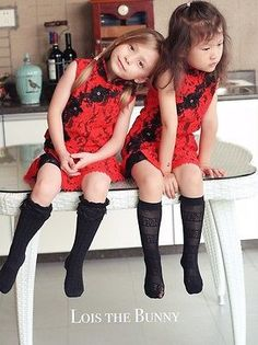 Handmade Red Lace Girl Princess Cheongsam Asian Wiggle Dress Chinese Qipao Dress  | eBay