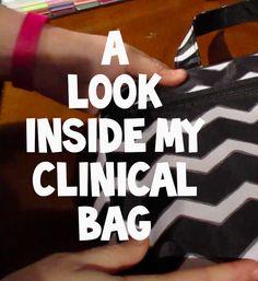What's In My Nursing School Clinical Bag? Nursing School Tips, Nursing Career, Nursing Tips, Nursing Notes, Nursing Degree, Nursing Programs, Cna Nurse, Nurse Bag, Nurse Life