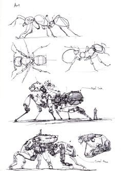 Digital Painting Creature Design Texture Paint Brushes Concept Art Design Sketch… – Art Drawing Tips Arte Robot, Robot Art, Creature Drawings, Animal Drawings, Design Set, Art Design, Robot Sketch, Arte Steampunk, Robot Animal