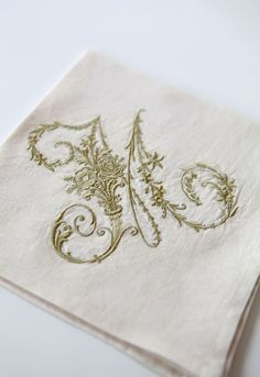 Beautiful Initial Embroidery