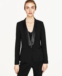 5b1fa7e7ec743 Resultado de imagen para blazer para mujeres con cuello esmoquin Mujeres