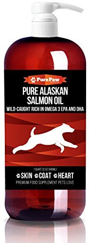 Salmon Oil for Dogs & Cats - Best for Pets Skin and Coat - Pure Wild Alaskan Salmon Oil - Omega 3 Dog Fish Oil Liquid for Coats and Itchy Dry Skin - Supplement Fish Oil for Dogs Coats Cats Best, Dog Vitamins, Cat Nutrition, Cat Allergies, Nursing Supplies, Pet Supplies, Oils For Dogs, Pet Supplements, Fish Oil