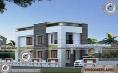 Home Elevation Design with Low Cost Contemporary House Designs Two Story House Design, 2 Storey House Design, Best Modern House Design, Small House Design, Modern House Plans, Indian House Exterior Design, Home Gate Design, Software Architecture Design, 1500 Sq Ft House