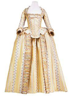 Robe à l'anglaise, ca 1780 France, Museo de la Moda