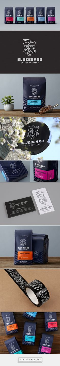 Bluebeard Coffee Roasters — The Dieline - Branding & Packaging... - a grouped images picture - Pin Them All