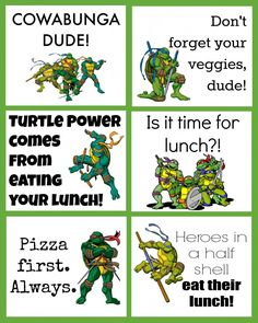 tmnt lunchbox notes