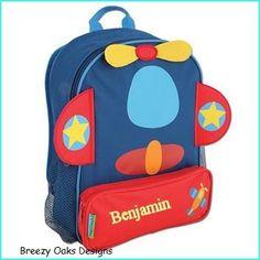 Personalized Stephen Joseph Airplane Sidekick Backpack