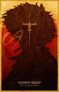 Large Cowboy Bebop Poster - Spike Spiegel