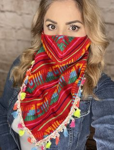 Mexican Loomed Face Scarf Adjustable – Camelia Mexican Boutique