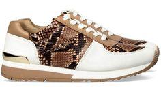 Witte Michael Kors schoenen Allie Trainer sneakers