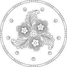 Arts & Crafts Round Floral | Pattern Detail | Needlecrafter.com