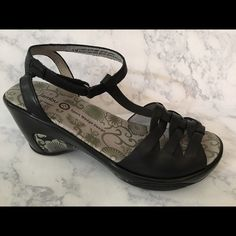 "Jambu ""Camden"" Black Woven Sandle Jambu Black wegde with ankle strap and Memory Foam footbed. 2 1/2"" wedge.  Very comfortable!  These are too big for me otherwise I would never let them go.  I only wore them a couple of times. Like new condition. jambu Shoes Sandals"