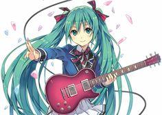 Vocaloid Hatsune Miku guitar