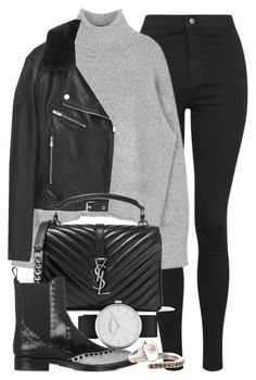 """Untitled #11078"" by minimalmanhattan on Polyvore featuring Topshop, MANGO, Yves Saint Laurent, Marc by Marc Jacobs, Alexander Wang, Rosa Maria, women's clothing, women, female and woman"