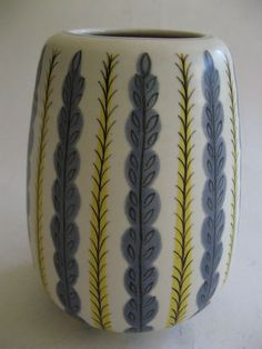 Poole Pottery Freeform Vase Vintage Retro Ceramics 1950s