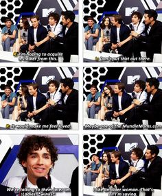 Lol Shoutout to MundieMoms from Robert Sheehan (to play Simon Lewis). He just seems  so friendly which is awesome. This is from (7/19/2013) The Mortal Instruments: City of Bones Movie Cast Interview with MTV at Comic Con #SDCC