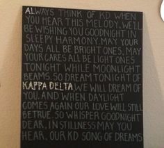 Kappa delta wall art This would be perfect for the bed time story night!