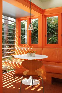 Looks like my choice of accent colour for the home office is a trendy one - Pantone's colour of the year is Tangerine Tango!