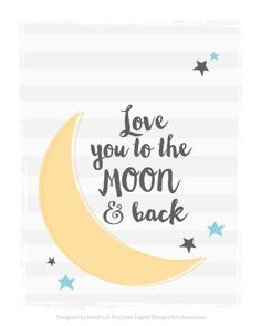 FREE Love you to the Moon and Back Printable on { lilluna.com }