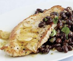 Turkey Cutlets and Black Beans with Tangerine-Habanero Mojo Sauce Mojo ...