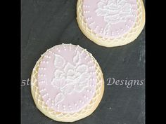 Advanced Bridal Brush Embroidery Sugar  Cookie