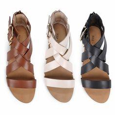 Les dernières tendances chez les sandales plates! Sandales Pas Cher   Chaussures Femme ... daead26ea366
