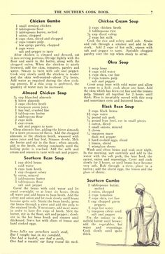 Southern Recipes The Southern cook book of fine old recipes : Lustig, Lillie S, ed : Free Downloa… Retro Recipes, Old Recipes, Vintage Recipes, Cookbook Recipes, Cooking Recipes, Recipies, Diner Recipes, Creole Recipes, Family Recipes