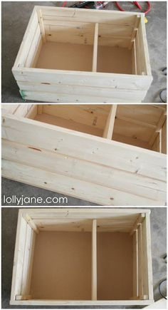 Wooden Crate with Casters......making one to keep dog toys in, lol.