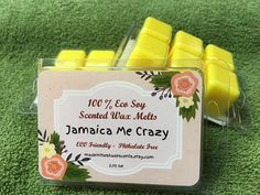 Jamaica Me Crazy EcoSoya Soy Wax melts by MadeInTheShadeScents