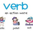 FREE - A simple verb poster to hang in your classroom.  Several versions included so you can choose which description works best with your reading series....