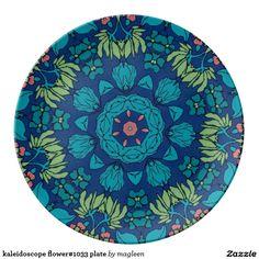 kaleidoscope flower#1033 plate