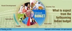 The pin describes the general expectations from the annual budget of India 2015