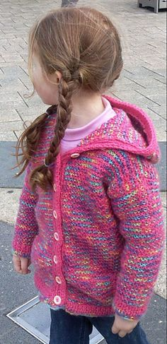 Ravelry: Child/Teen's Cardigan (Archived) pattern by Saleutions Pty Ltd free pattern Sizes Crochet Baby Cardigan, Cardigan Pattern, Hooded Cardigan, Crochet Toddler, Crochet Girls, Knitting For Kids, Baby Knitting, Toddler Sweater, Girls Sweaters