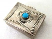 Sterling Silver Turquoise Box 6660