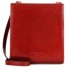 Givenchy Leather Coin Purse ($560) ❤ liked on Polyvore featuring bags, wallets, red, small leather goods, change purse, coin pouch wallet, leather wallets, red coin purse and red leather wallet